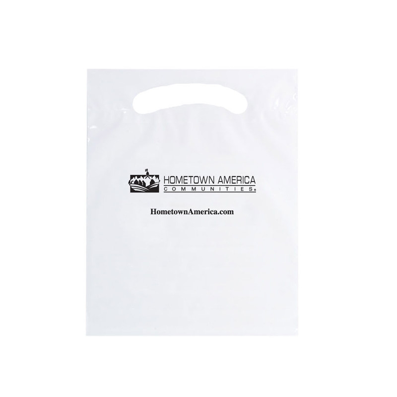 "OXO Reusable Die Cut Fold-Over Reinforced Bag (7 1/2""x10"") - Flexo Ink"