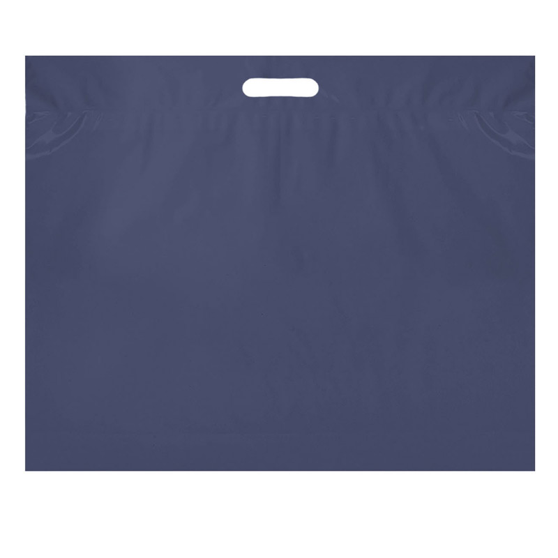 "Die Cut Fold-Over Reinforced Plastic Bag (16""x13"") - Flexo Ink"