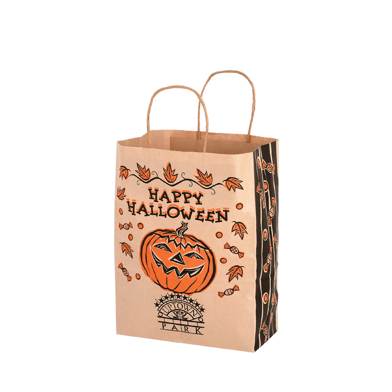 Halloween Stock Design Natural Kraft Shopper Bag