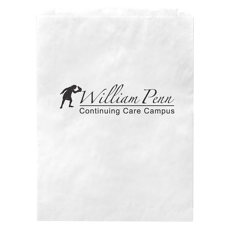 "White Kraft Paper Merchandise Bag (12""x15"") - Flexo Ink"