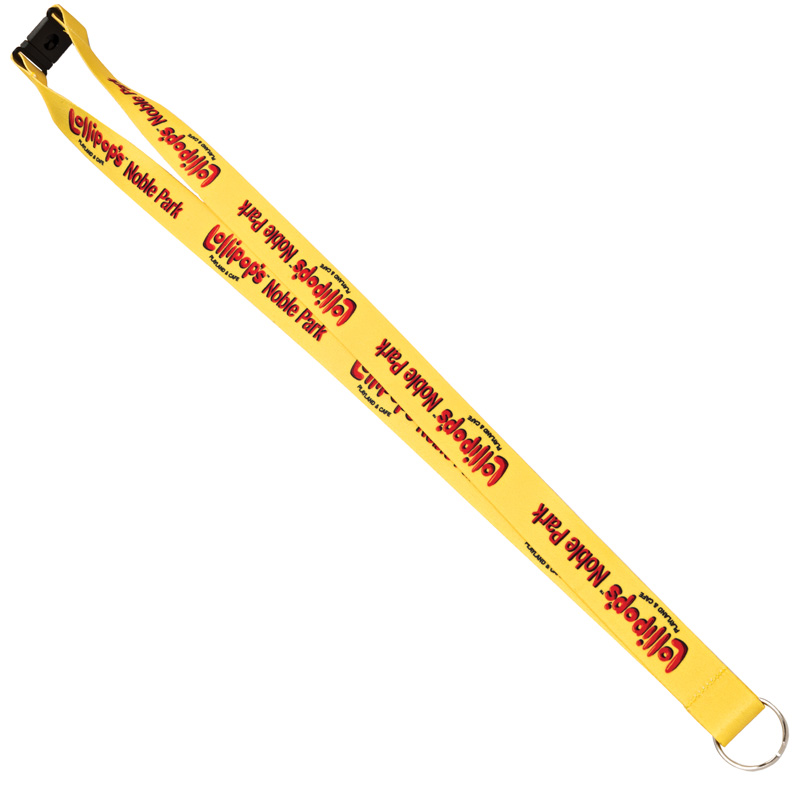 "Sublimated 100% Polyester Lanyards with O-Ring (3/4""x36"") - Sublimation"