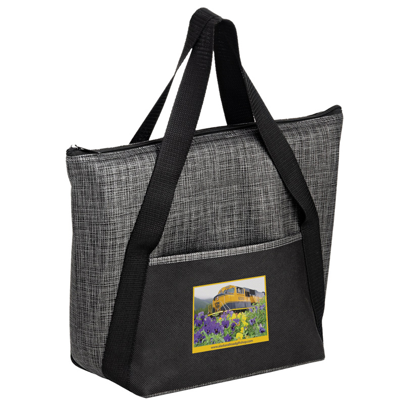 Insulated Non-Woven and Pearl Wool Blend Tote Bag - CMYK