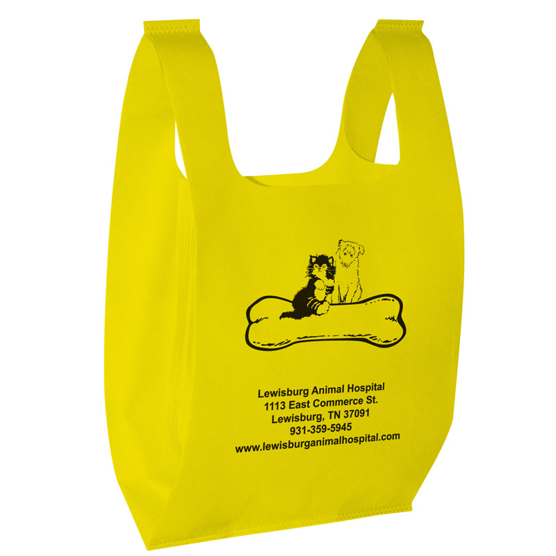"Recession Buster Non-Woven T-Shirt Bag (13""x7""x22"") - Screen Print"