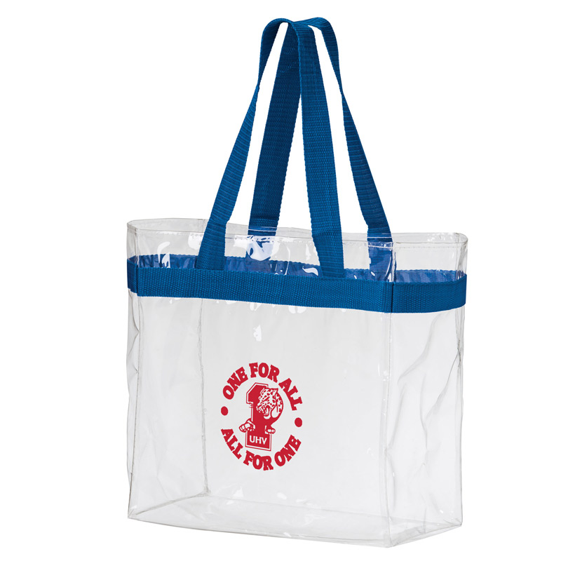 "Crystal Clear Vinyl Stadium Security Tote Bag (12""x6""x12"") - Screen Print"