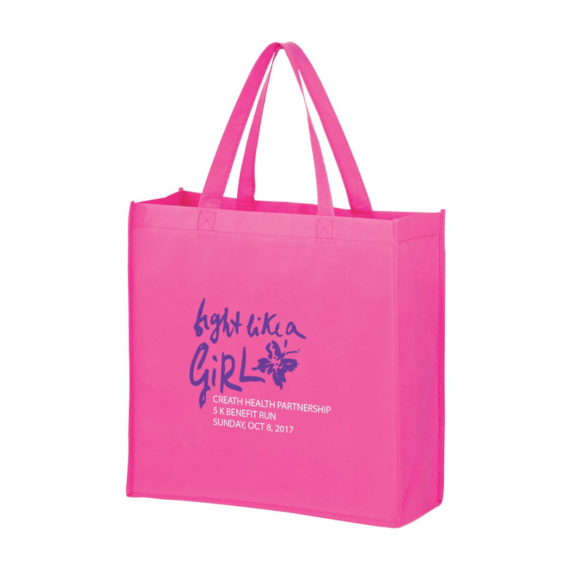 "Breast Cancer Awareness Pink Recession Buster Non-Woven Tote Bag (13""x5""x13"") - Screen Print"