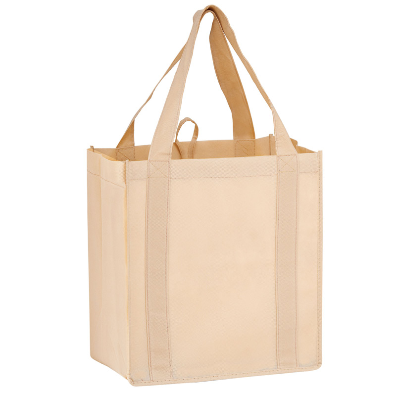"Heavy Duty Non-Woven Grocery Tote Bag w/Insert (12""x8""x13"") - Screen Print"