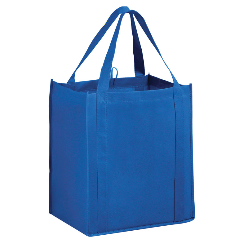 "Heavy Duty Non-Woven Grocery Tote Bag w/Insert and Full Color (13""x10""x15"") - Color Evolution"