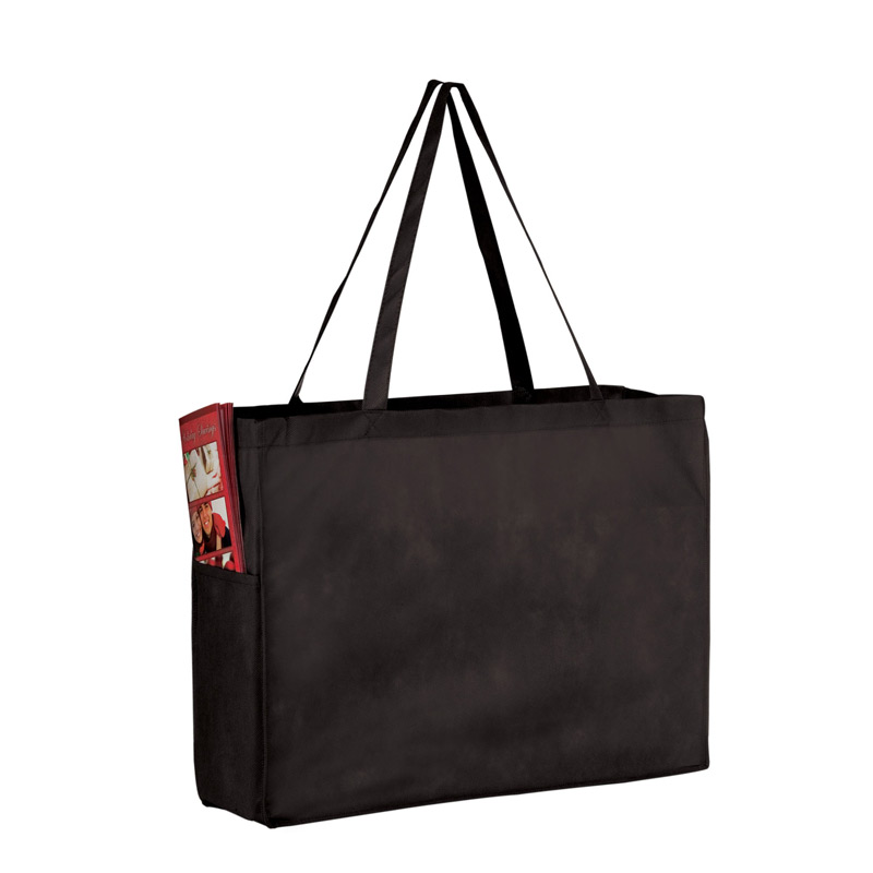 "Side Pocket Non-Woven Tote Bag w/Full Color (16""x6""x12"") - Color Evolution"
