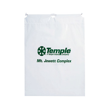 "Cotton Cord Drawstring Plastic Bag (16""x18""x3"") - Flexo Ink"