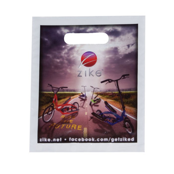 "Full Color Digitally Printed Die Cut Plastic Bag (7 1/2""x9"") - Digital"