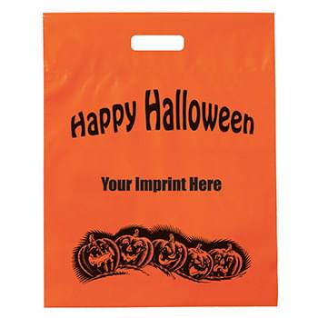 Halloween Stock Design Frosted Orange Die Cut Bag • Pumpkin Row