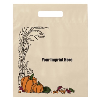 Stock Design Halloween Fold-Over Reinforced Die Cut Bag - Autumn Harvest