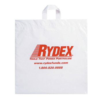 "Fused Soft Loop Handle Plastic Bag (20""x20""x6"") - Flexo Ink"