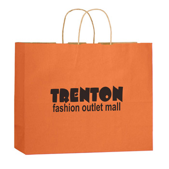 "Matte Color Paper Shopper Tote Bag (16""x6""x13"") - Flexo Ink"