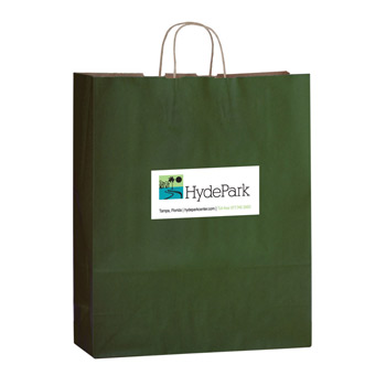 "Matte Color Paper Shopper Tote Bag w/Full Color (16""x6""x19 1/4"") - Color Evolution"