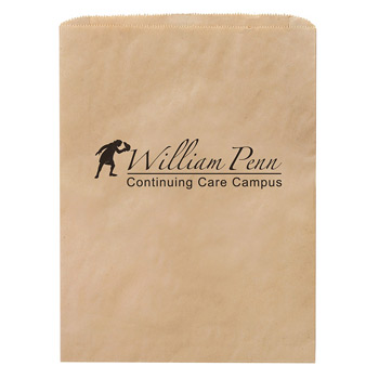 "Natural Kraft Paper Merchandise Bag (12""x15"") - Flexo Ink"