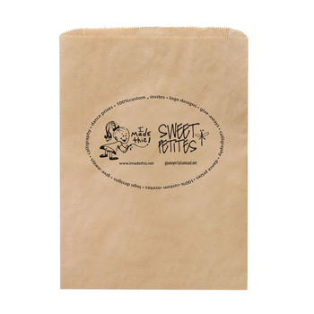 "Natural Kraft Paper Merchandise Bag (8 1/2""x11"") - Flexo Ink"