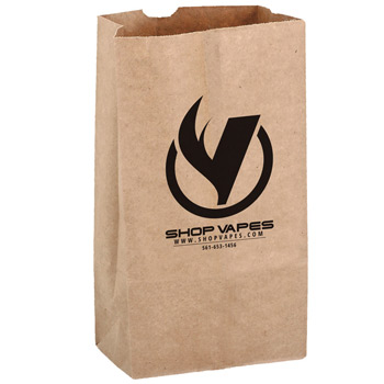 Natural Kraft Paper SOS Grocery Bag (Size 12 Lb.) - Flexo Ink
