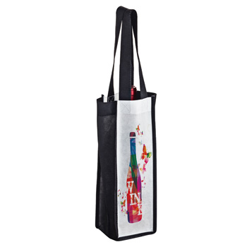 Full Coverage PET Non-Woven Sublimated 1 Bottle Wine Tote Bag – Sublimation