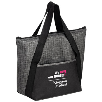 Insulated Non-Woven and Pearl Wool Blend Tote Bag