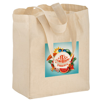"Cotton Canvas Tote Bag (8""x4""x10"") - Color Evolution"