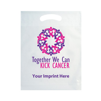Breast Cancer Awareness Die Cut Bag with Stock Design and Customization
