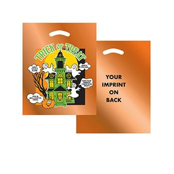 Halloween Stock Design Orange Reflective Die Cut Bag • Haunted House