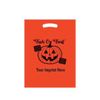Halloween Stock Design Orange Die Cut Bag - Trick or Treat