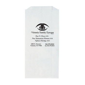 "White Kraft Paper Prescription Bag (5""x2""x10"") - Flexo Ink"