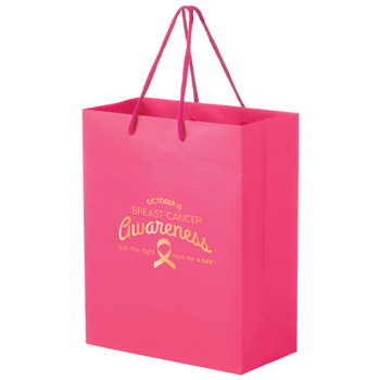 PINK Awareness Matte Laminated Euro Tote Bag