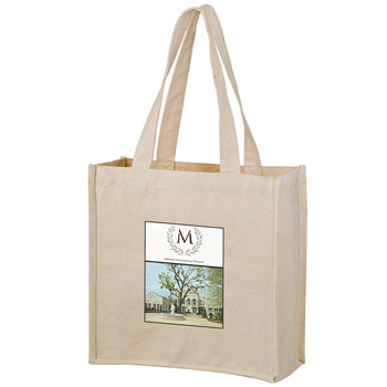 "Heavyweight Cotton Wine & Grocery Tote Bag - 2 Bottle holders (13""x5""x13"") - Color Evolution"