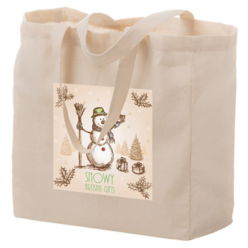 Cotton Canvas Tote Bag w/Full Color (13