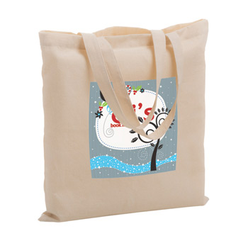 "Cotton Canvas Tote Bag w/Full Color (15""x15"") - Color Evolution"