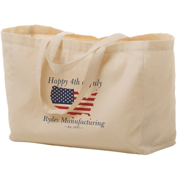 "Cotton Canvas Tote Bag (16""x6""x12"") - Screen Print"