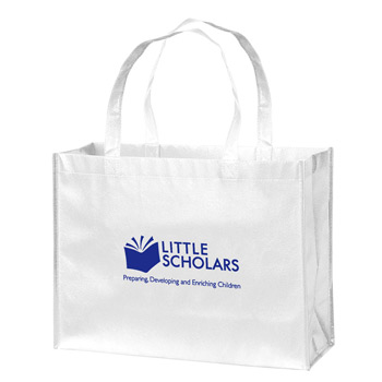 "Gloss Laminated Designer Tote Bag (16""x6""x12"") - Screen Print"