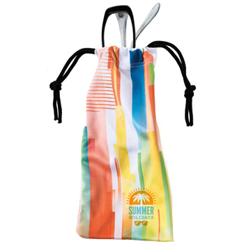"Microfiber Pouch w/Drawstring & Full Color Wrap (3 1/2""x7"") - Sublimated"