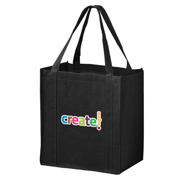 "Recession Buster Non-Woven Grocery Tote Bag w/Insert and Full Color (12""x8""x13"") - Color Evolution"