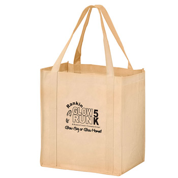 "Recession Buster Non-Woven Grocery Tote Bag w/Insert (12""x8""x13"") - Screen Print"