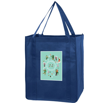 "Recession Buster Non-Woven Grocery Tote Bag w/Insert and Full Color (13""x10""x15"") - Color Evolution"