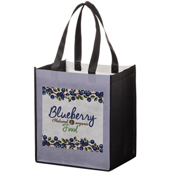 "Full Coverage PET Non-Woven Grocery Bag w/Full Color (13""x10""x15"") - Sublimated"
