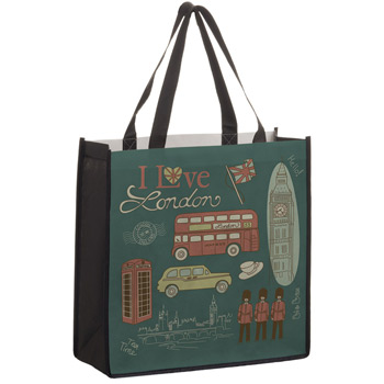 "Full Coverage PET Non-Woven Tote Bag w/Full Color (13""x5""x13"") - Sublimated"