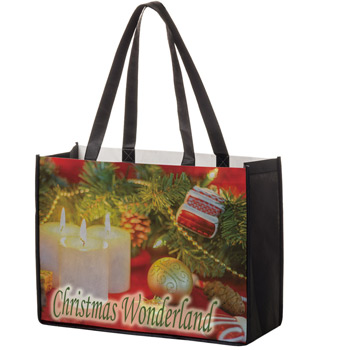 "Full Coverage PET Non-Woven Tote Bag w/Full Color (16""x6""x12"") - Sublimated"