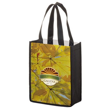"Full Coverage PET Non-Woven Tote Bag w/Full Color (8""x4""x10"") - Sublimated"