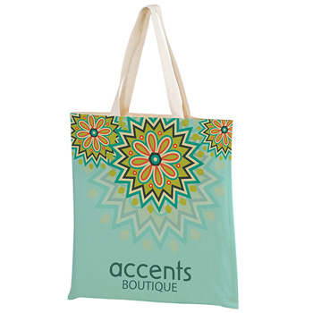 "Full Coverage Cotton Tote Bag w/Full Color (15""x16"") - Sublimated"