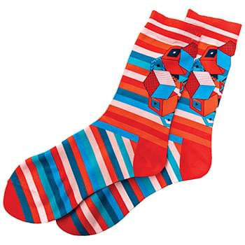 95% Polyested/5% Spandex Socks (One Size Fits Most) - Sublimated