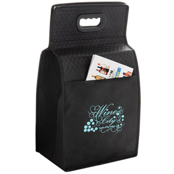 "Insulated Wine Tote Bag - 6 Bottle Non-Woven Tote (7.5""x7""x19.5"") - Screen Print"
