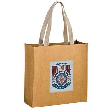 "Washable Kraft Paper Fabric Tote Bag w/Web Handle (13""x5""x13"") - Color Evolution"