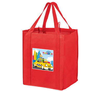 "Wine & Grocery Combo Tote Bag w/Insert and Full Color (13""x10""x15"") - Color Evolution"