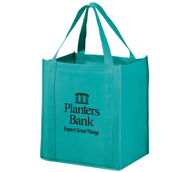 "Wine & Grocery Combo Tote Bag w/Insert (13""x10""x15"") - Screen Print"