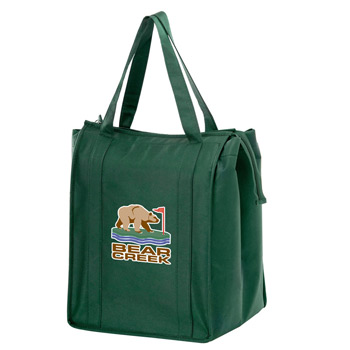 "Insulated Non-Woven Grocery Tote Bag w/Insert and Full Color (13""x10""x15"") - Color Evolution"